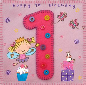 Age 1 Fairy Birthday Card TW250